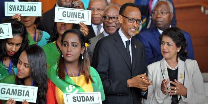Le président rwandais Paul Kagame lors du 26e sommet de l'Union africaine à Addis-Abeba, le 30 janvier 2015.