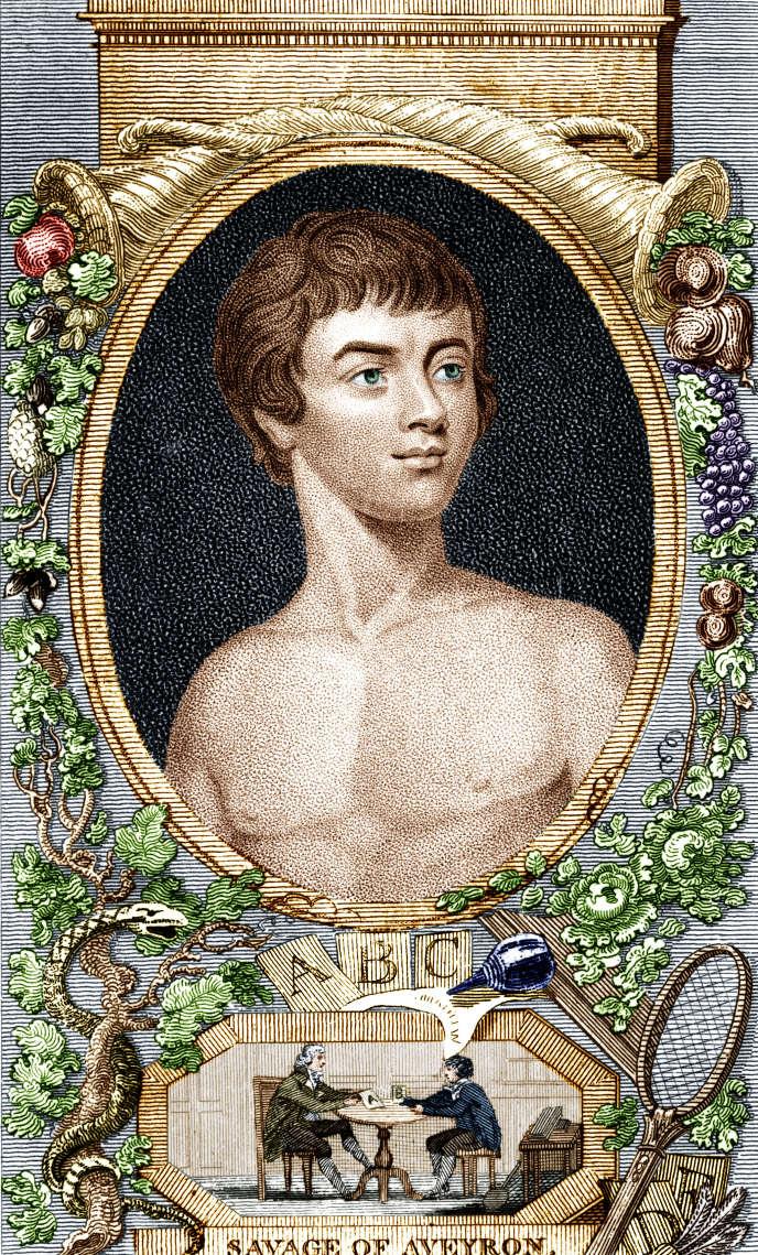 Victor de l'Aveyron, gravure de 1807.