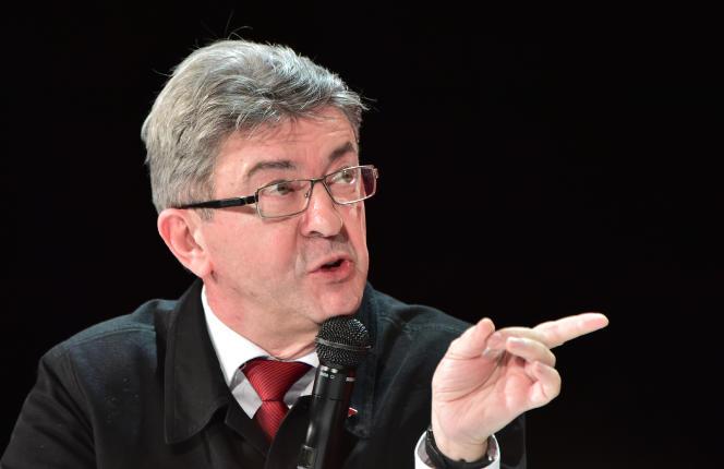 Jean-Luc Mélenchon à La Défense le 31 janvier.
