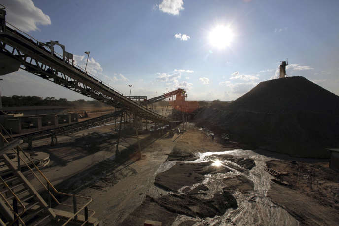 Les machines d'une mine de l'ancienne province du Katanga.