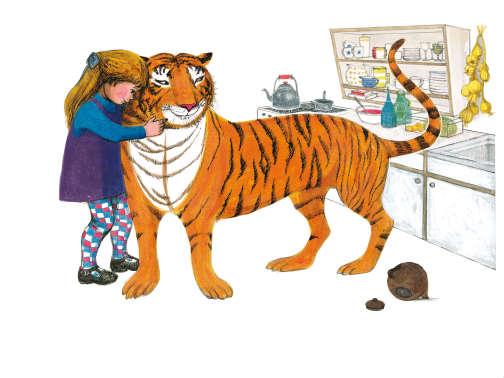 Extrait du«tigre qui s'invita pour le thé», de Judith Kerr.