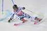 Marcel Hirscher, lors de la Coupe du monde de slalom à Stockholm, en Suède, le mardi 31 janvier 2017.