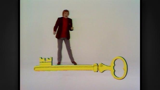 Eddy Mitchell dans une émission de Jean-Christophe Averty dans les années 1970