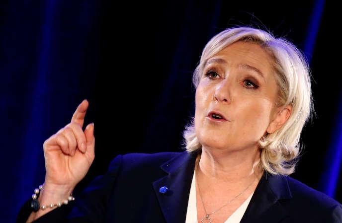 Marine Le Pen, candidate FN à la présidence de la République, le 26 janvier à Paris.