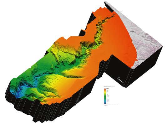 Le gouf de Capbreton, un des canyons sous-marins les plus profonds au monde. Ses pentes sinueuses, ses plateaux, ses vallées et ses précipices à seulement quelques encablures de la côte en font un phénomène géologique exceptionnel.