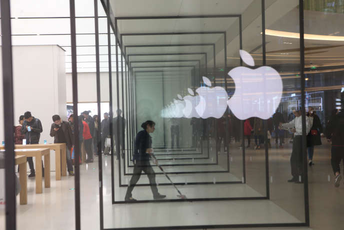 Un Apple Store, à Shanghaï, en décembre2016.