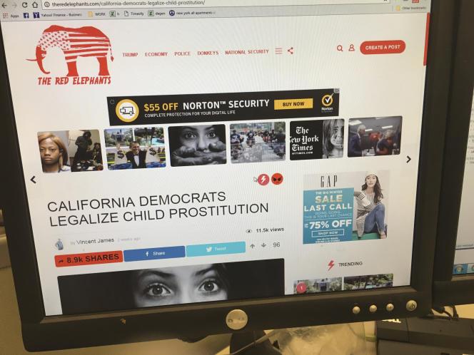 « Les démocrates californiens légalisent la prostitution infantine.»