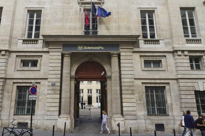L'entrée de Sciences Po Paris.