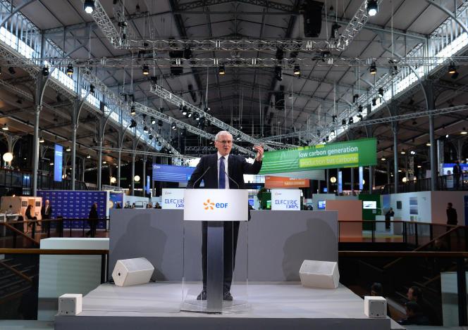 Le président-directeur général d'EDF, Jean-Bernard Lévy, à Paris le 24janvier.