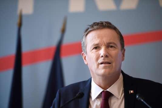 Nicolas Dupont-Aignan à Paris, le 1er février.