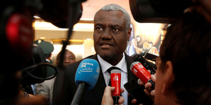 Le Tchadien Moussa Faki Mahamat , élu président de la Commission de l'Union africaine le 30 janvier 2017.