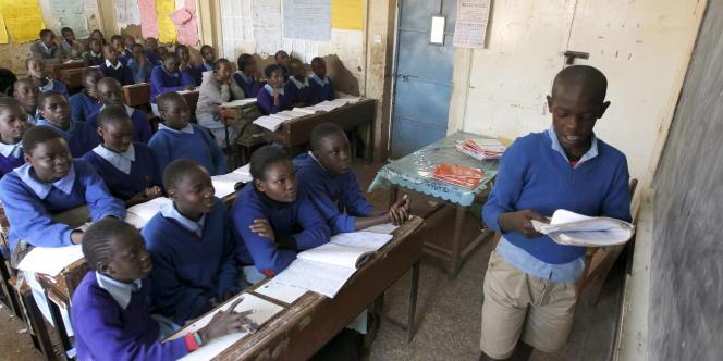Une classe dans une école de Nairobi, au Kenya, en septembre 2015.