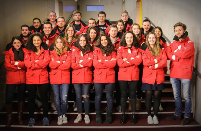 Les membres de l'association étudiante Course croisière Edhec.