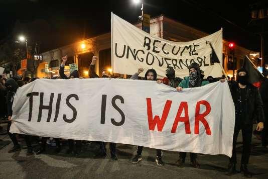 Manifestation à Berkeley, le 2 février.