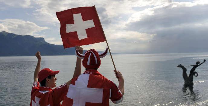 Au bord du lac Léman, côté suisse.