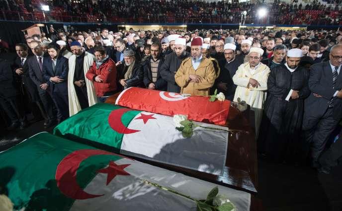 Les funérailles de trois des six victimes mortelles de la fusillade du 2 février à Québec.