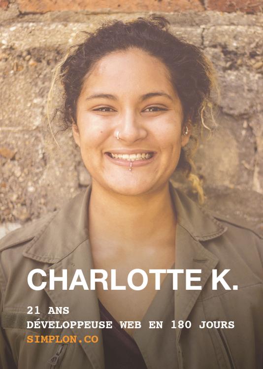 Charlotte, 21 ans, a été formée au développement web par Simplon.co.