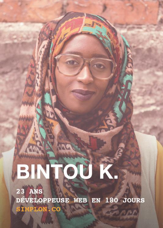 Bintou K., 25 ans, formée par Simplon.co.