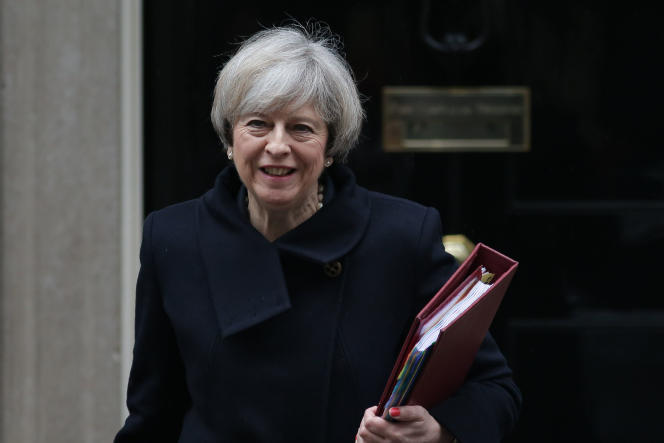 Theresa May, le 1er février à Londres.