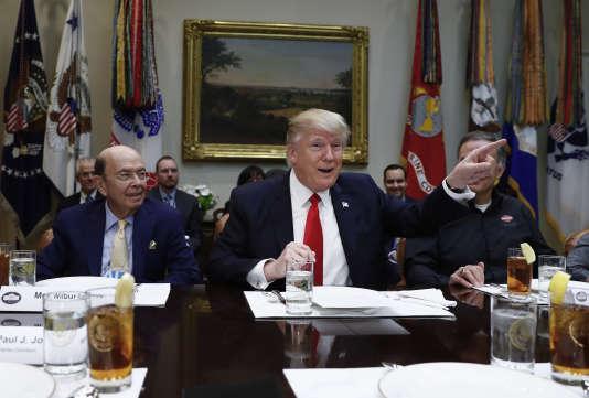 Le président Donald Trump à la Maison Blanche, le 2 février.