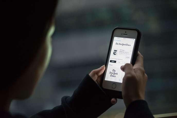 L'application du «New York Times» consultée à Pékin le 5 janvier.