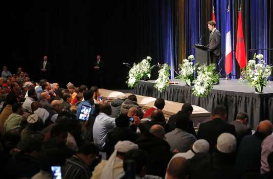 Le premier ministre canadien, Justin Trudeau, à Québec, le 3 février, durant les obsèques des victimes de l'attentat du 29 janvier.
