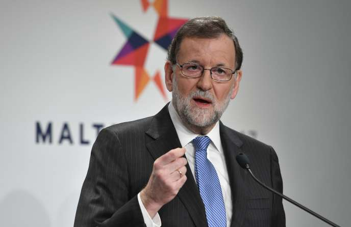 Mariano Rajoy à La Valette, le 3 février 2017.