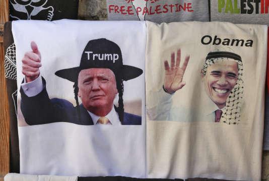 Un magasin de T-shirts dans la vieille ville de Jérusalem, en novembre 2016.