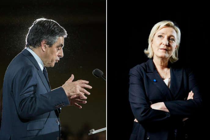 François Fillon et Marine Le Pen, deux candidats se revendiquant comme honnêtes, sont la cible de soupçons.
