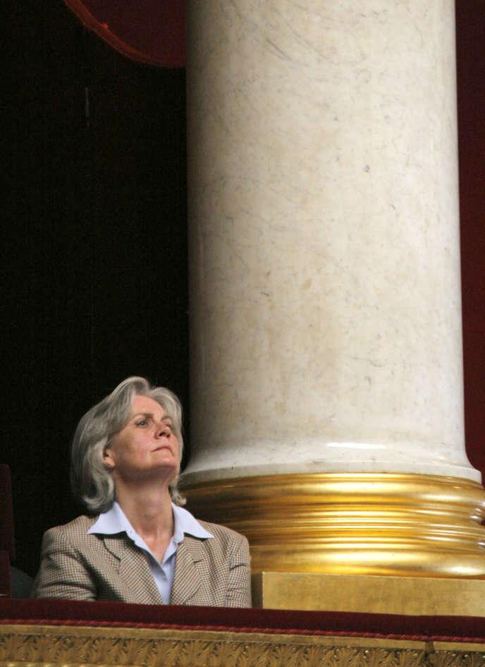 Penelope Fillon à l'Assemblée nationale, en 2007, lors du discours de politique générale prononcé par son mari, devenu premier ministre.