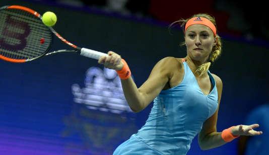 Kristina Mladenovic, le 2 février, à Saint-Pétersbourg.