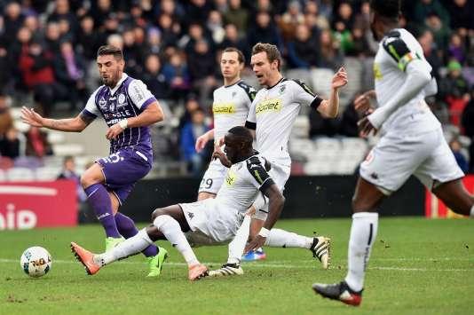 L'attaquant Andy Delort a réussi ses débuts à Toulouse, dimanche 5 février.
