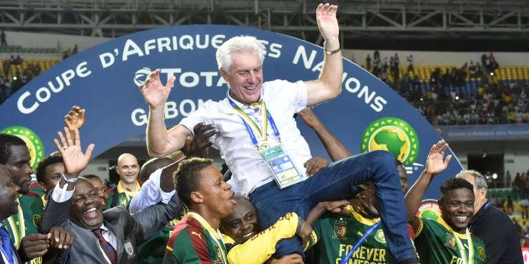 Hugo Broos, le 5 février à Libreville.