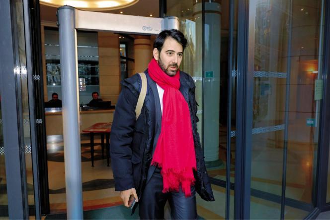 Antonin Lévy sortant du parquet national financier, le 26 janvier.