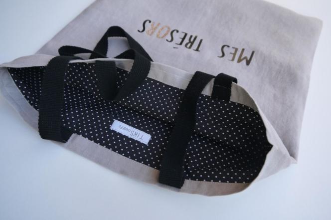 Ce sac doublé de 40 × 42 cm se réalise en une heure.