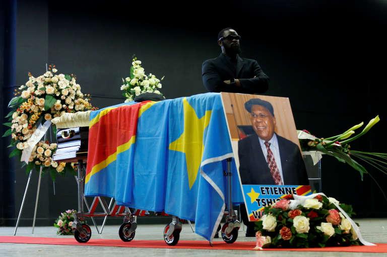 Dépouille de l'opposant historique congolais Etienne Tshisekedi, à Bruxelles, le 5 février.