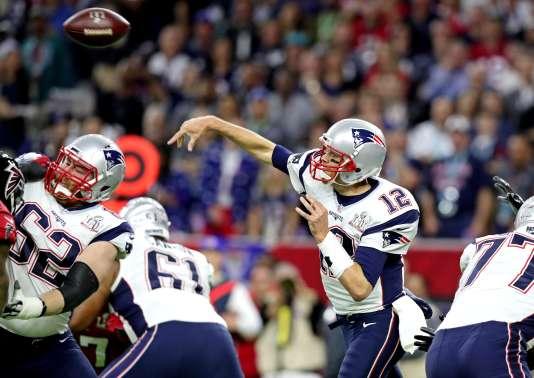 Tom Brady et les Patriots de la Nouvelle-Angleterre, le 5 février 2017, à Houston.