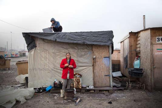 Le camp de la Linière, à Grande-Synthe, le 17 janvier.