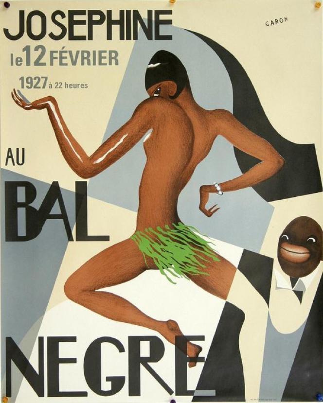 Une affiche d'époque du Bal Nègre.