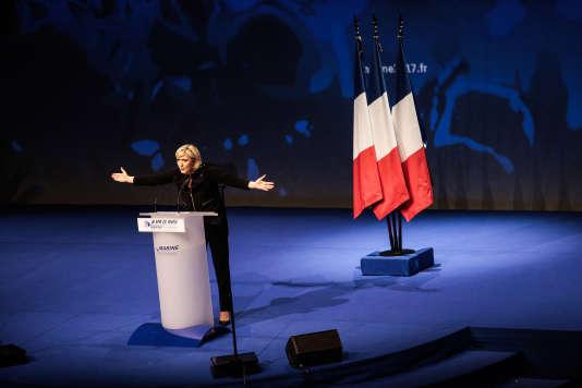 Marine Le Pen, le 5 fevrier 2017, à Lyon.