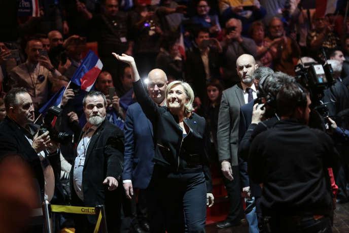 Marine Le Pen, à Lyon le 5 fevrier 2017.