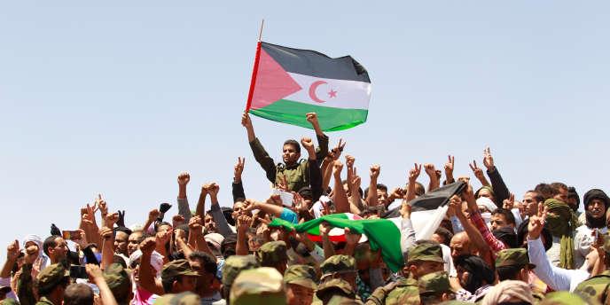 Manifestation du Front Polisario à Tindouf, en Algérie, le 3 juin 2016.