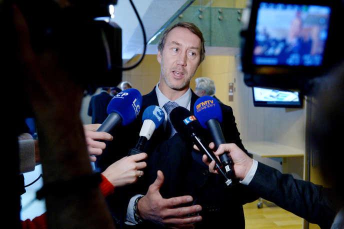 Le président du Syndicat national des pilotes de ligne, Philippe Evain, à Paris en 2015.