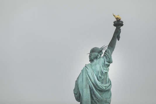 La statue de la Liberté, à New York, le 31janvier 2017, symbole de l'accueil des réfugiés aux Etats-Unis.