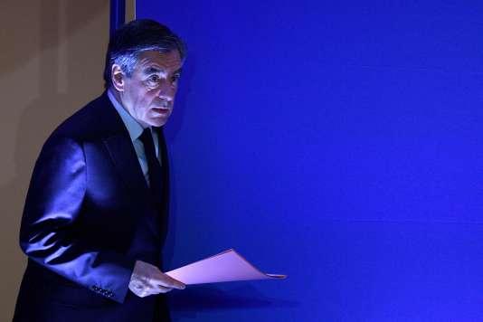 François Fillon, lors d'une conférence de presse à Paris, le 6 février 2017.