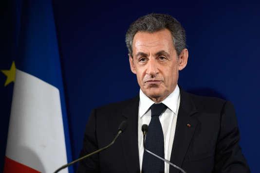 Nicolas Sarkozy, le 20 novembre, le soir de sa défaite au premier tour de la primaire à droite.