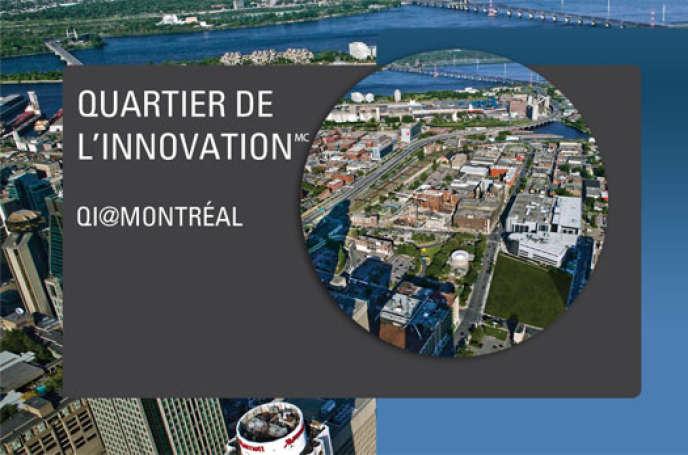 Le Quartier de l'innovation est situé au sud du centre-ville de Montréal, dans une ancienne zone industrielle en reconversion.