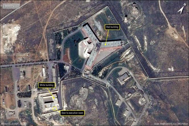 La priso Saydnaya en Syrie, le 7 février.