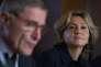 Gérard Mestrallet et Valérie Pécresse, à Londres, lundi 6février.