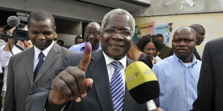 Afonso Dhlakama, chef de la Renamo, à Maputo, en octobre 2009.